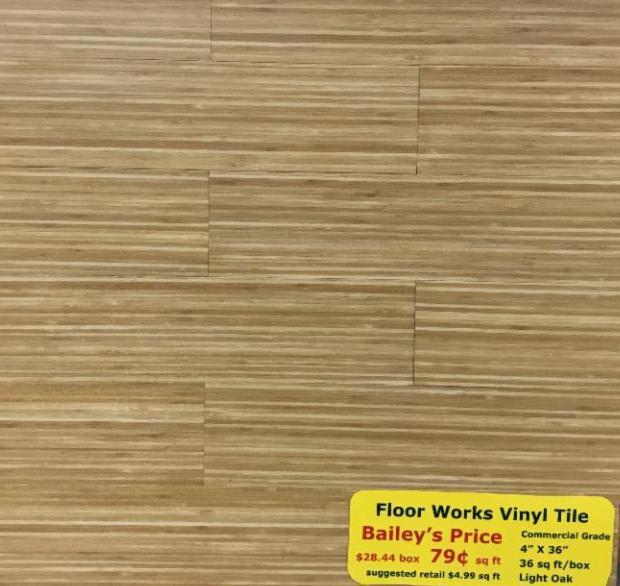 Floorworks Vinyl Tile 4 X 36