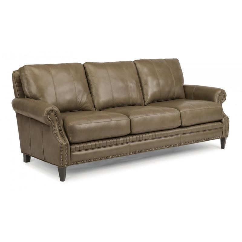 Flexsteel Leather Sofa