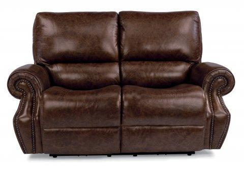 Flexsteel Power Reclining Loveseat With Power Headrest Baileys